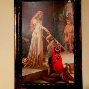 Vintage Canvas King Arthur Large Frame Picture